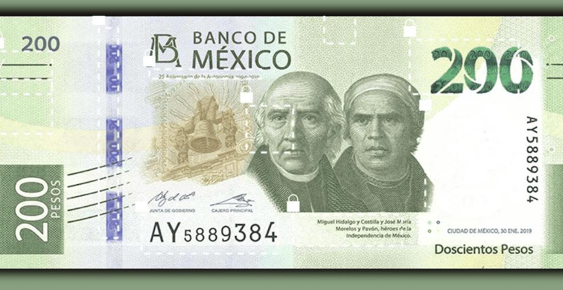 ¿Por qué cambió el diseño del billete de 200?