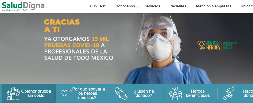 Otorga Salud Digna pruebas gratuitas de COVID-19 al personal médico