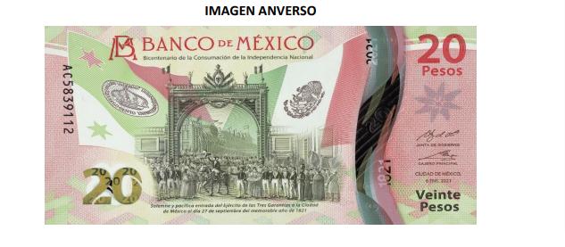 Así es el nuevo billete de 20 pesos